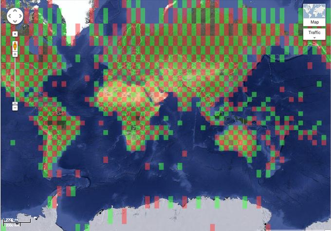 Инфографика показывает столетнее изменение климата на Google Maps. Изображение № 1.