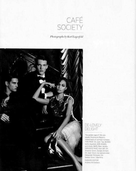 Сьемка: Саския де Брау, Джоан Смоллс и Аризона Мьюз в Harper's Bazaar. Изображение № 1.