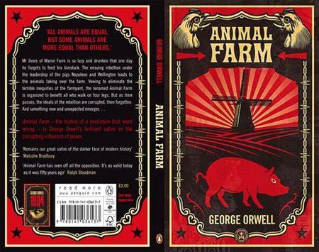 Обложки книг Джорджа Оруэлла отсоздателя OBEY. Изображение № 1.