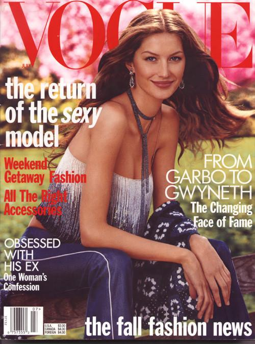 Вспомнить все или 11 обложек Жизель для Vogue US. Изображение № 1.