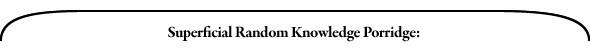 Премьера: Superficial Random Knowledge Porridge. Изображение № 4.
