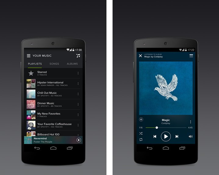 Spotify android look at me for Who can design an app for me