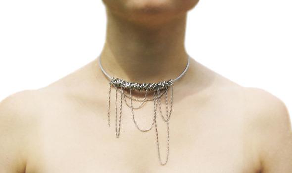 Ожерелья из цепей гаек и сантехнического шнура. Часть1. Изображение № 20.