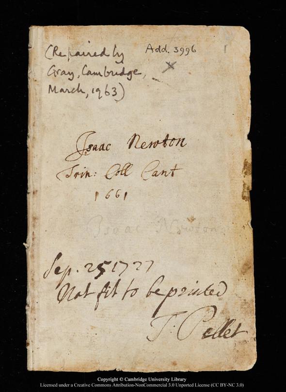 """Черновики Ньютона и первое издание """"Начал"""" выложены в сеть. Изображение № 2."""