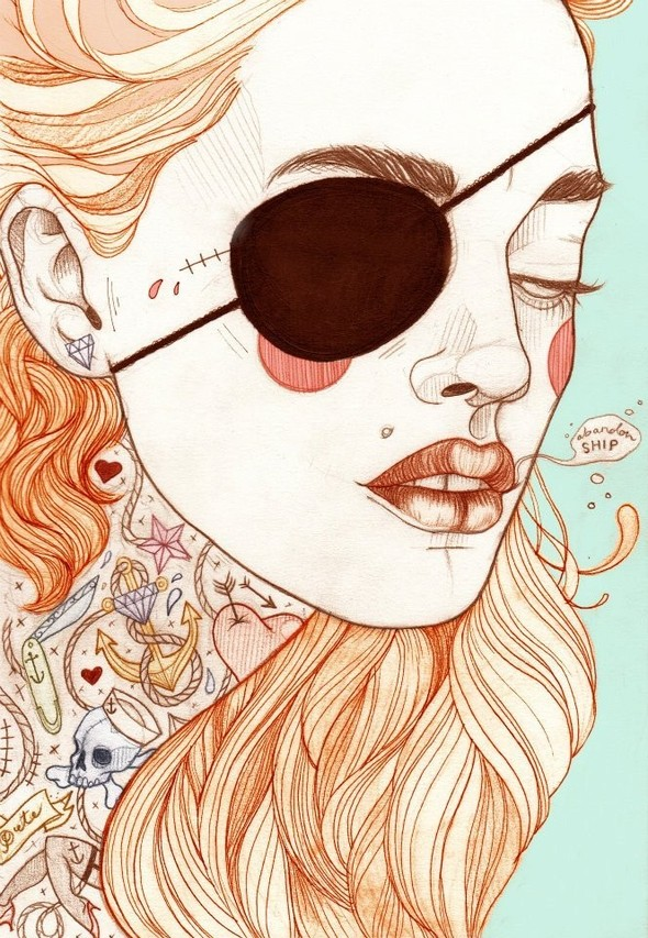 Карандашные рисунки художницы из Лондона Liz Clements.. Изображение № 16.