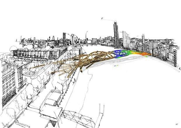 Выложены 74 проекта нового моста через Темзу. Изображение № 29.