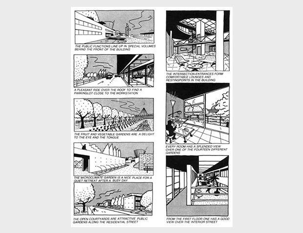 Дом для Супермена: комиксы Ле Корбюзье, Рема Колхаса и других знаменитых архитекторов. Изображение № 13.