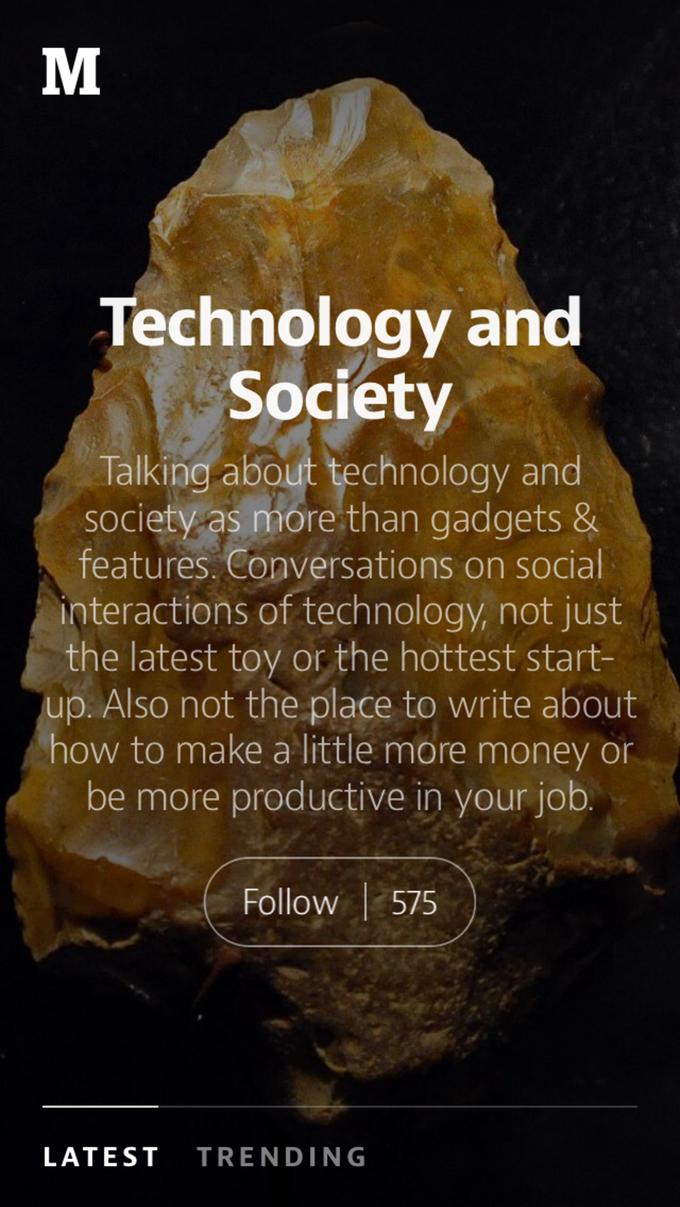 Блог-платформа Medium запустила мобильное приложение . Изображение № 4.
