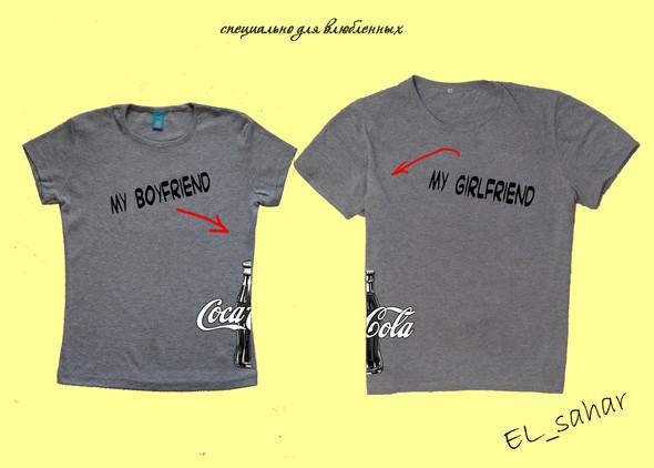 Elsaharova: половинчатые футболки на 14 февраля. Изображение № 7.