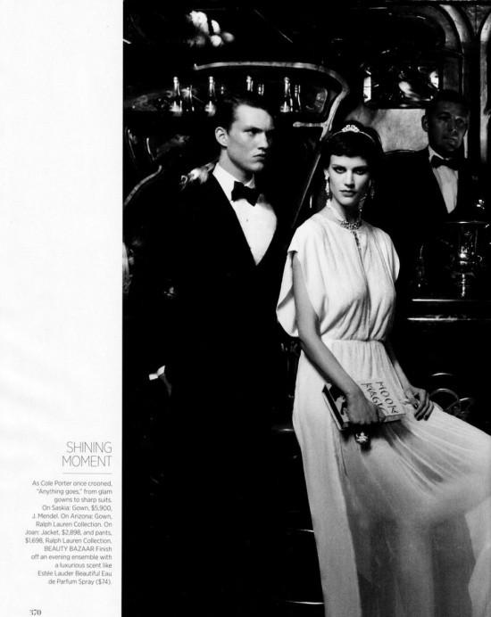 Сьемка: Саския де Брау, Джоан Смоллс и Аризона Мьюз в Harper's Bazaar. Изображение № 3.