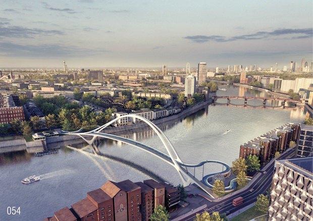 Выложены 74 проекта нового моста через Темзу. Изображение № 38.