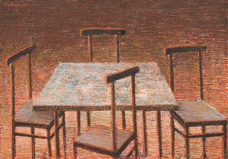 Куаныш Базаргалиев. Столы истулья. Изображение № 3.