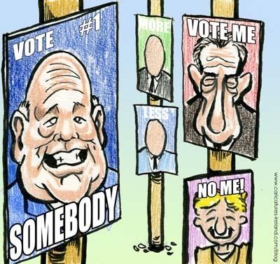 Все на выборы! Политическая реклама разных лет. Изображение № 99.