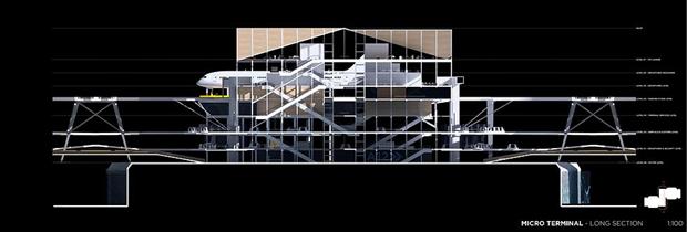 Студент предложил концепт надземного аэропорта в городе. Изображение № 10.