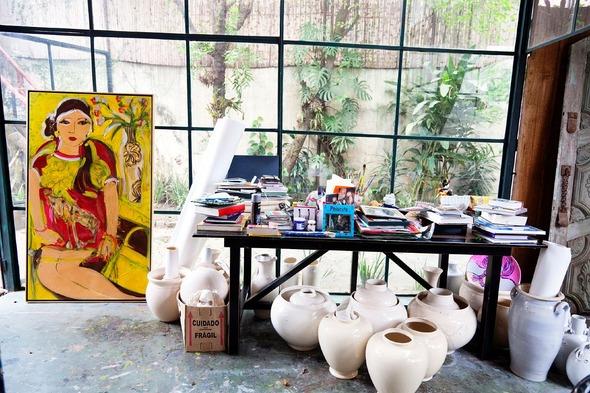 Дом и студия художницы Isabelle Tuchband в Сан Пауло.. Изображение № 13.