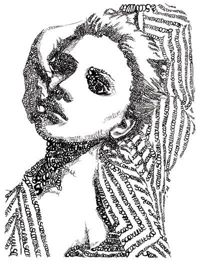 Портреты в типографике. Изображение № 16.