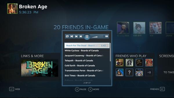 В Steam появится аудиоплеер. Изображение № 8.