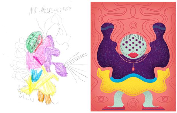 Художники создали монстров наоснове детских рисунков. Изображение № 39.