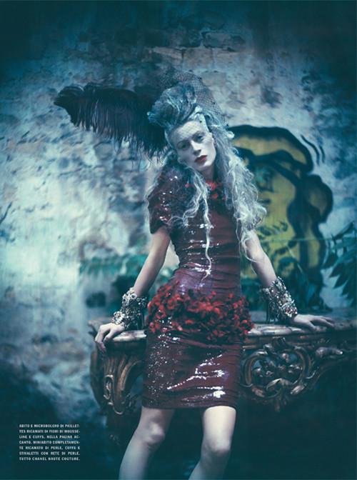 Архивная съёмка: Кристен МакМенами для Vogue Italia, сентябрь 2010. Изображение № 7.