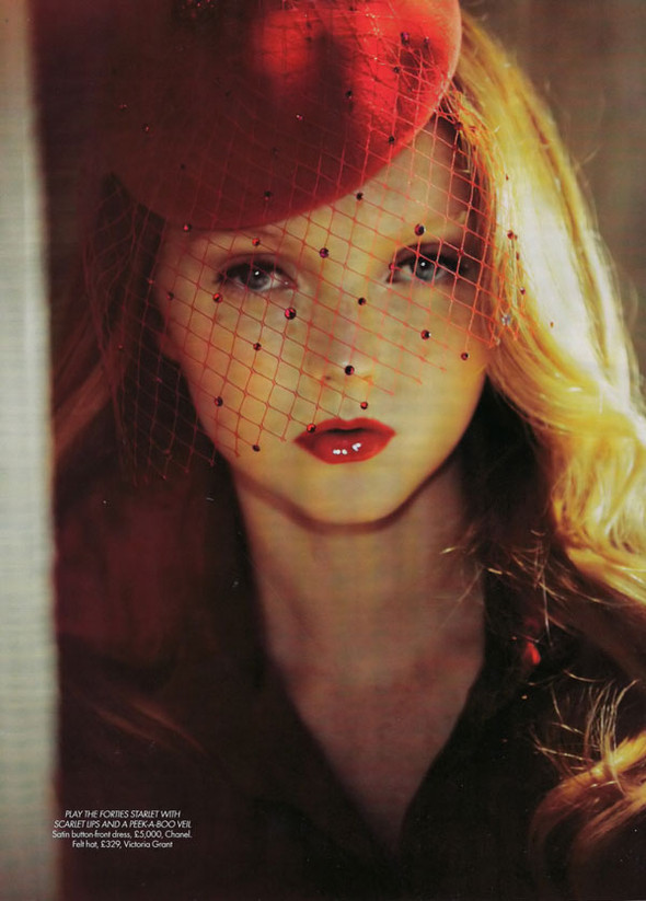 Lily Cole by Guy Aroch for Harpers Bazar UK October. Изображение № 6.