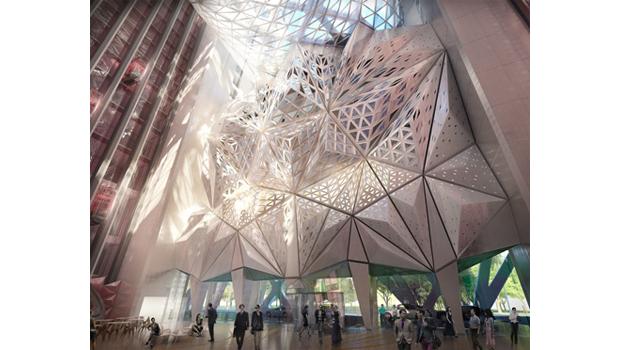Заха Хадид представила проект скульптурного отеля. Изображение № 3.