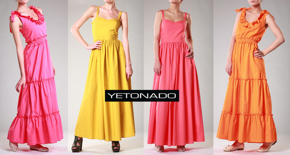 Лукбук YETONADO: летнее настроение и длинные платья. . Изображение № 1.