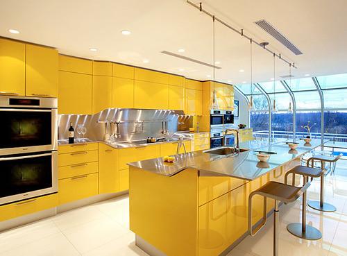 Современная желтая кухня фирмы Snaidero. Изображение № 3.