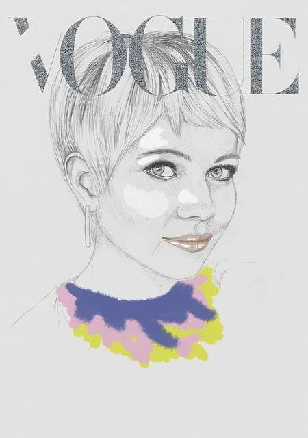 Vogue Covers: знаменитая Hazel Castle нарисовала журнал карандашом. Изображение № 5.