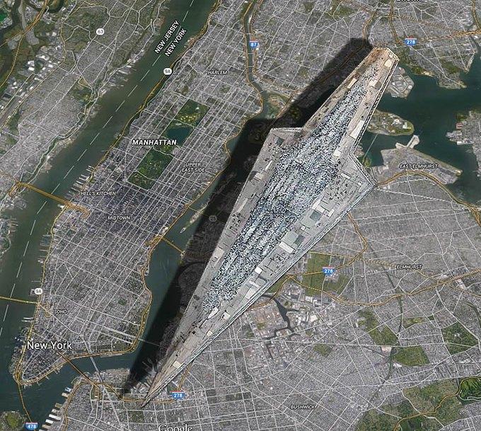 Дредноут из «Звёздных войн» сравнили с Манхэттеном . Изображение № 1.