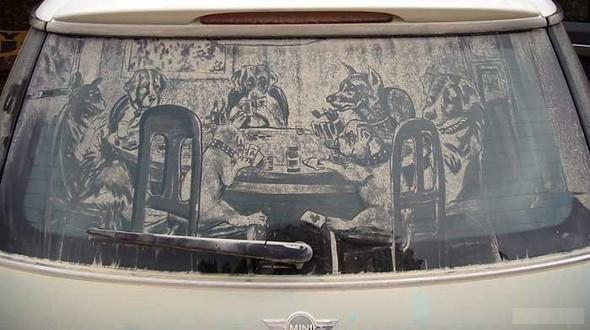 Рисунки напыльных стёклах. Изображение № 13.