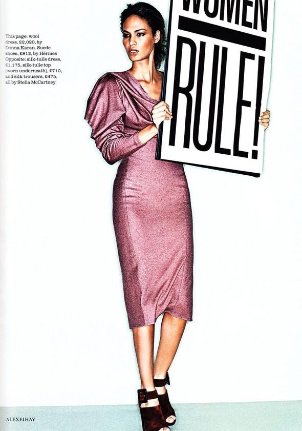 Съёмка: Джоан Смоллс для Elle. Изображение № 6.