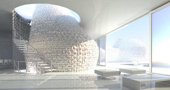 Представлена концепция распечатанного на 3D-принтере интерьера . Изображение № 2.