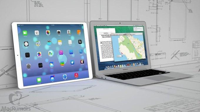 Визуализация 12,9-дюймового iPad авторства бюро CiccareseDesign. Изображение № 1.