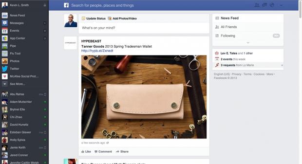 Причиной редизайна Facebook стали старые компьютеры. Изображение № 1.