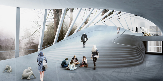 Архитектура дня: «перекрученный» музей авторства BIG под Осло. Изображение № 7.