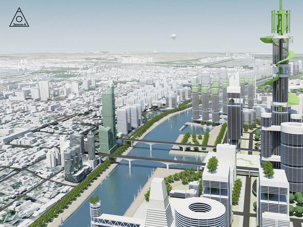 Сегодня есть множество примеров использования воды, как места где строят - жилье, бизнес центры, объекты культуры.. Изображение №5.