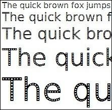 Эко-шрифт, офисная бумага извторсырья. Изображение № 1.