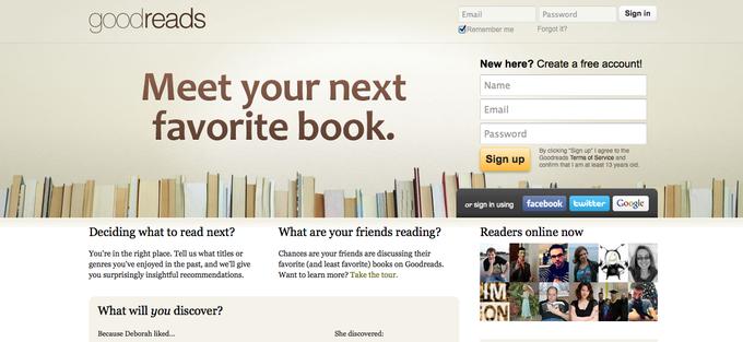 Amazon приобрел книжный портал Goodreads. Изображение № 1.