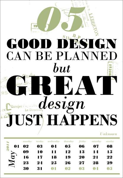 Календарь для дизайнеров от Harmonie Interieure. Изображение № 6.