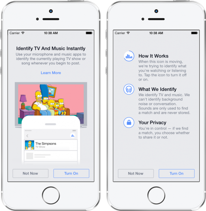 Мобильное приложение Facebook сможет распознавать песни и фильмы . Изображение № 2.
