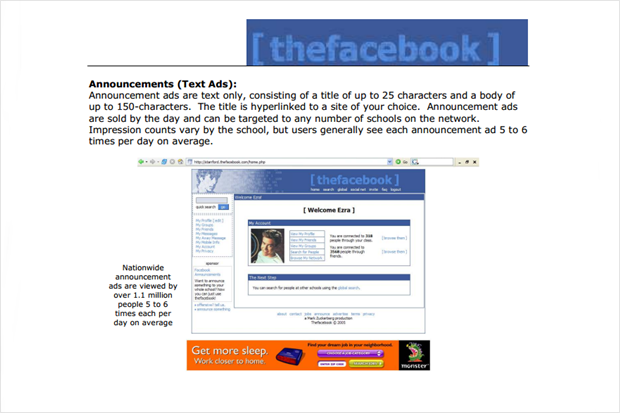 Опубликовано первое предложение по рекламе TheFaceBook. Изображение № 2.