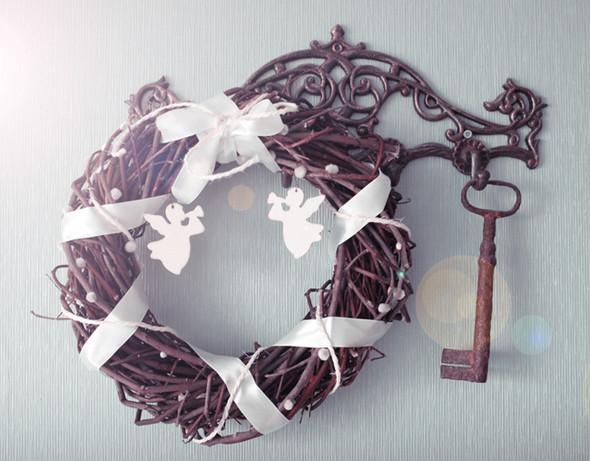Рождественский венок из ивовых прутьев. Изображение № 3.
