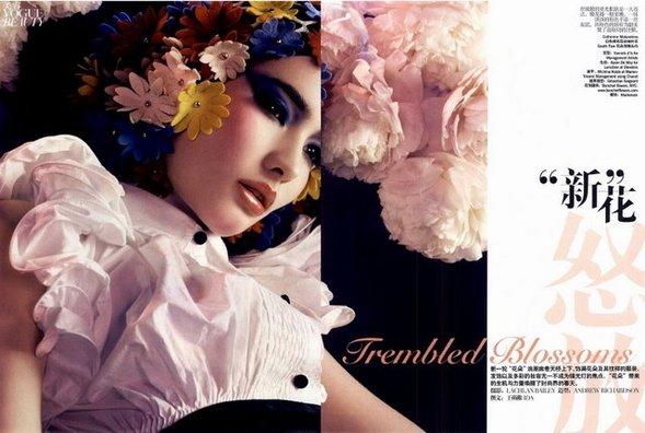 Цветы- этодействительно красиво( China Vogue, Ap2008). Изображение № 2.