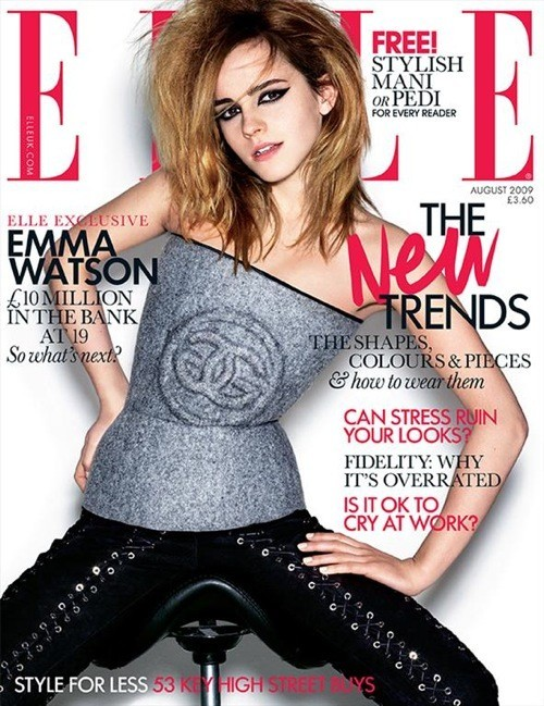 Emma Watson for ELLE UK, August 2009. Изображение № 1.