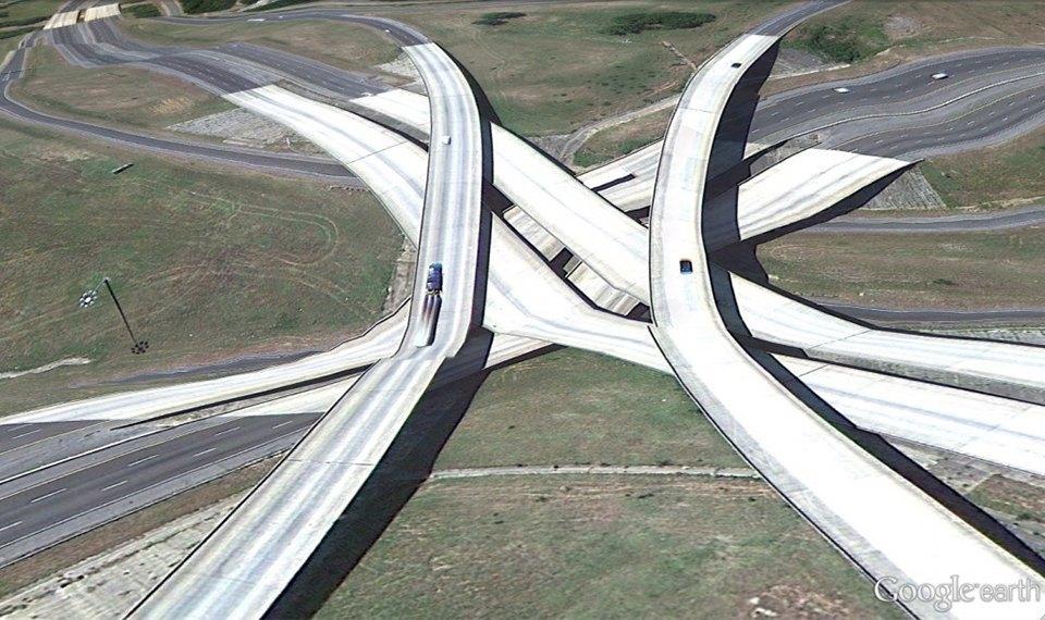 32 фотографии из Google Earth, противоречащие здравому смыслу. Изображение № 11.