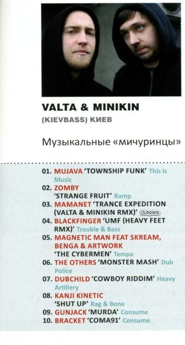 Valta & Minikin TOP 10 @ DJ. Am magazine. Изображение № 1.