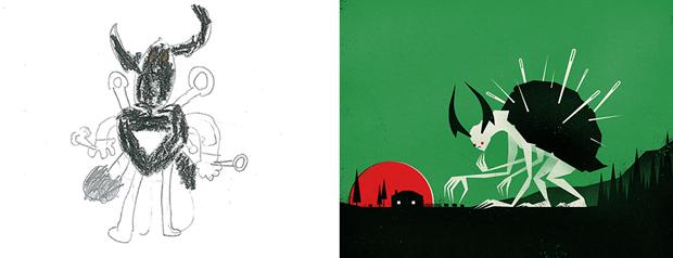 Художники создали монстров наоснове детских рисунков. Изображение № 18.