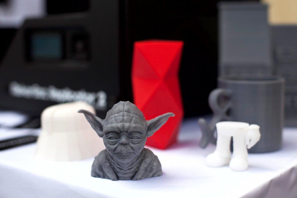 Бюст Йоды, распечатанный на Makerbot Replicator 2 и отшлифованный.. Изображение № 2.