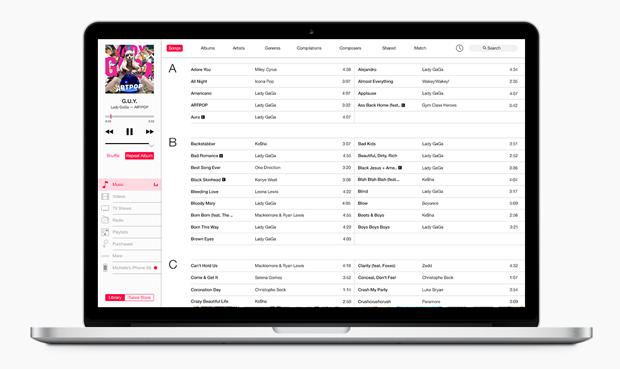Представлен концепт глобального редизайна iTunes. Изображение № 1.