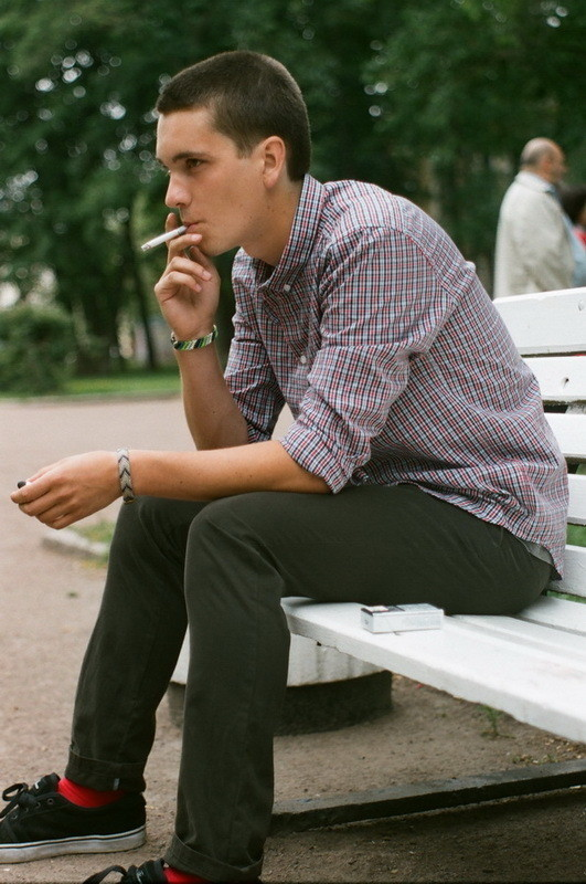 На Игоре: рубашка Cheap Monday, брюки Еxtra. Изображение № 22.